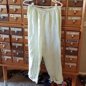 Faint Lime green linen pant